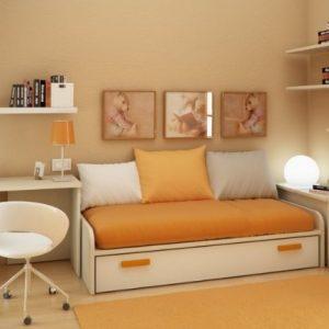 lemari sofa dalam ruang minimalis